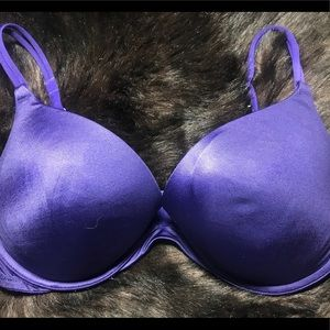 Victoria's Secret Purple Padded Plunge 38D Bra